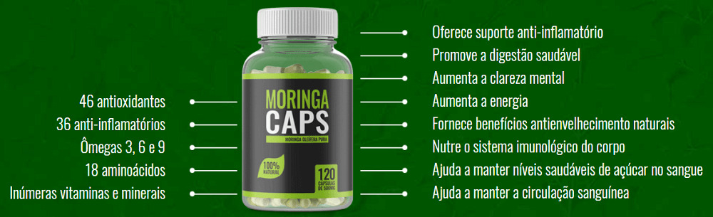moringa caps beneficios